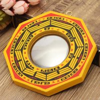 Decorative Objects & Figurines Retro Feng Shui Dent Convex Bagua Pakua Chinese Wooden Mirror For Good Luck And Blessing Home Wall