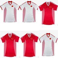 2002 Cina retrò Soccer Jerseys National Team 2021 2022 Uomini Casa Home Red Away Bianco Camicie di calcio Built Third Black Dragon Uniformi Cinese Top Quality