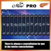 オリジナルMISO PRO 12星座使い捨て羽毛電子タバコ1500 PUFFS 4MLのカートリッジを使用する準備ができて透明なマウスピース蒸気を使用する準備ができて