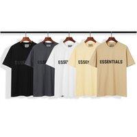20sS Ins Heißes Frühling Sommer Hip Hop Angst vor Gott Front Wesentliche 3D Silikon T-Stück Skateboard T-Shirt Nebel Männer Frauen Kurzarm Casual T-Shirt