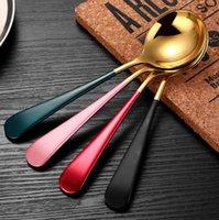 Sorvete Sobremesa Colher Candy Punho Café Café Colher de Ouro Aço Inoxidável Cozinha Bar Flatware Talheres Will e Sandy Gwe4816