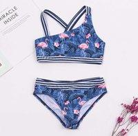 23 أنماط رخيصة الاطفال بنات ملابس السباحة ملابس الأطفال طباعة ضمادة بيكيني 2021 الجملة العلامة التجارية الطفل فتاة biquini بدلة السباحة