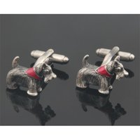 10pairs lot Novelty Dog Schnauzers links Animal Links Copper Shirt Cuff Button Mens Jewelry Accessory Fashion Gift