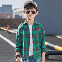 Shirts Kids Plaid For Boys School Blouse Tops Clothing Spring 2021 Toddler Boy Long Sleeve Cotton Casual Shirt Children Blouses