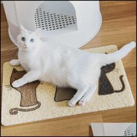 Cat Supplies Home Gardencat Beds & Furniture Pet Litter Mat Cute Trapper Mats Non-Slip Easy Clean Aessories Products Drop Delivery 2021 Uilo