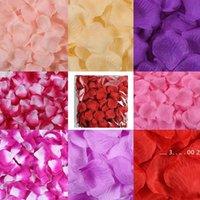 New20 색상 인공 실크 장미 꽃잎 시뮬레이션 꽃 웨딩 파티 결혼 침대 여러 색상 이용 가능한 꽃잎 EWD5501