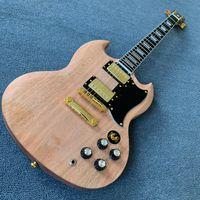SG elektro gitar kısmen hazırlanmış ürünler, tek parça bodyneck, bloklar, abanoz klavye, tonpro köprüsü ile klow kilidi