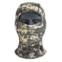 HANWILD Açık Aktif Kamuflaj Balaclava Tam Yüz Maskesi CS Wargame Bisiklet Avcılık Ordu Kask Taktik Kap Eşarp Için