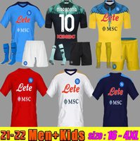 Hombres + Kits Kit 22 22 Napoli Soccer Jerseys 2021 2022 Nápoles Osimhen Koulibaly Lozano NSIGNE MARADONA MERTENS Player RPG Camisa de fútbol Jugador + Fans