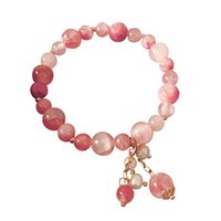 Link, Chain Crystal Stretch Bracelet Strawberry Girl Student The Birthday Gift Beautiful LL@17
