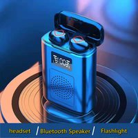 TWS Bluetooth гарнитура динамик зарядное устройство три в одном полосе ночной свет 4000 мА аккумулятор 5.1 ухо IPX7 супер водонепроницаемый путешествия приключения рыбалка Diesiesdhlfree