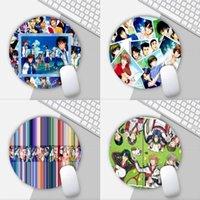 마우스 패드 손목은 anime of the tennis of the pc 노트북 노트북 20x20cm 게이머 데스크 용 테니스 라운드 매트 게임 패드