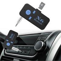 X6 Wireless Bluetooth 4.0 Adapter 3 in 1 USB-Bluetooth-Empfänger 3,5-mm-Audio-Jack TF MP3-Kartenreader MIC Call Support Car-Lautsprecher