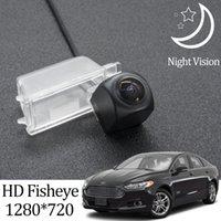 Auto Vista posteriore Telecamere Sensori di parcheggio Owtosin HD 1280 * 720 Fotocamera Fisheye per fusion Sedan 2013 2014 2021 Accessori in retromarcia di backup