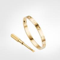 Amor tornillo pulsera 5,0 pulseras para hombre 4diamonds diseñador brazalete de lujo joyería de lujo mujeres titanio acero aleación oro chapado artesanía oro plata rosa nunca se desvanece no alérgico