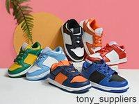 Nouvelle Université SB Dunk Rouge Brésil Royal Blue Black Kids Chaussures de course Bébé Enfants Garçons Filles Dunks Formateurs Sporteurs Sports Sneakers Taille 24-35