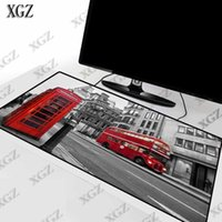 Mouse Pads & Wrist Rests XGZ London Red Telephone Box Large Gaming Washable Game Player Pad Computer Keyboard Lock Edge Mat Table