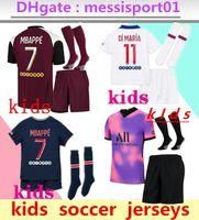 crianças kit de futebol jersey maillot crianças 2020 2021 Paris kits de futebol 20/21 MBAPPE camisa de futebol