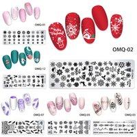Katze Schmetterling Schnee Nagel Stamping Platten Geometrische Linien Blätter Blumen Design Image Druckplatten Schablone Stempelwerkzeuge