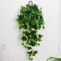 Декоративные цветы венки реальные сенсорные искусственные растения фальшивая листва виноградные лозы шелковые листья гирлянда ротанга домашняя садовая стена висит бу