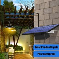 Solar Lamps Waterproof Pendant Lights Single Heads Auto On Off Barn Gazebo Shed Lamp Outdoor Indoor Extension Cable Emergency Balcony