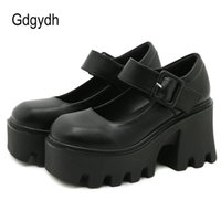 Robe chaussures gdgydh haute qualité caoutchouc semelle plate-forme de style japonais lolita femmes brevet cuir vintage sœur douce fille école