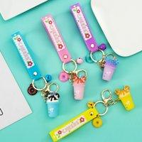 Cartoon Keychain Cute Donut Milk Tea Cup Keyring Charm Bag Car Pendant Key Chain for Women