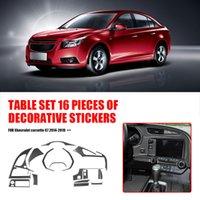 Control Multimedia Sticker Copre Copertura in fibra di carbonio Automobile Interni Dashboard Central Installazione Elementi per auto personali
