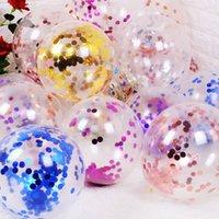 Oro astilla rojo confeti látex globos brillo claro transparente helio globo baby shower boda cumpleaños fiesta decoraciones