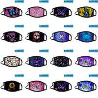 40Style Butterfly Skull Make Маска для лица Печатные Моющиеся Многоразовые Маски рта Ледяной Шелк Мода Анти пыль Взрослые Дети Защитный PPC2102233