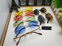 For Sunglasses New Glasses Quality Fashion Women Horn Mens Sun Retro Vintage Rimless High Frame Buffalo Attitude 2021 Glasse Apvtd
