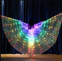 Luce colorata luminosa Isis Angel Wings Led Butterfly Belly Dance Costume per bambini Bellydance Performance Dancing DFF0211