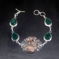 Link, Chain Gemstonefactory Jewelry Big Promotion Single Unique 925 Silver Rhodochrosite Green Agate Lady Women Charm Bracelet 23cm 20213294