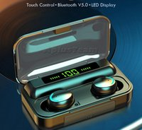 F9-V5.0 Auriculares Bluetooth 5.0 TWS TOUSPRINT TOUCH AURICANTE HIFI Estéreo Auriculares in -ubres Auriculares inalámbricos para deporte con caja de venta Nuevo