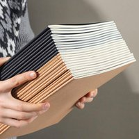 Notepads Notebook Spiral Sketchbook Graffiti For School Supplies Size A5&B5 40 Pages Kraft Paper Cover This Grid Blank Page
