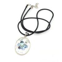 Anhänger Halsketten Natürliche Mutter der Perle Muschel Halskette Blume Muster Spleißen Für Frauen Männer Charms Schmuck