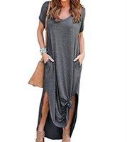 Casual Dresses Canwedance Fashion Long Dress V-neck Pocket Oversized Maxi Bat Sleeve Plus Size Fork 5XL Autumn X-long Robes