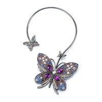 2021 Neue Mode Halskette Kette Strass Manschette Halsband Choker Halskette Für Frauen Luxus Mehrfarbige Hochzeitsgeschenk Maxi Statement Halskette JE
