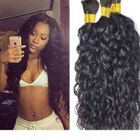 인간의 머리카락 대량 자연 웨이브 3pcs 로트 머리카락 대량 말레이시아 처리되지 않은 머리 자연 색상 무료 배송