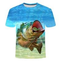 2019 Новый Стиль Стиль Цифровые 3D Печать Рыба футболка Мужчины Женщины Рыба Летняя Футболка с коротким рукавом О-Шеи Рыбалка и Трета