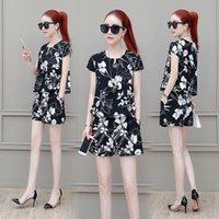 Two Piece Dress Floral Print Women Outfits Summer Short Sets For Ensemble Femme Deux Pieces Women's Suit Clothes