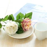 Artificial Rose Peony Silk Flower Valentines Day Festival Regalo Aniversario Boda Home Bouquet Fiesta Oficina Disposiciones Decoración 132 V2