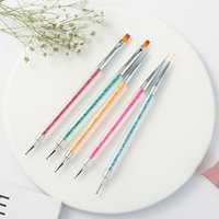 Nail Art Kits Double-Ended Tools, 5 PCS Design Kit Including Liner Brush And Dotting Pens For Acrylic Home Salon