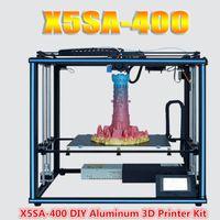 Tronxy X5SA-400 24 فولت طابعة 3D DIY كيت 400 * 400 * 400 ملليمتر حجم الطباعة كبيرة الحجم 3.5 بوصة شاشة تعمل باللمس الاستشعار الشعيرة التلقائي