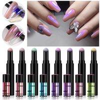 Neon Aurora Polvere Penna Air Air Penna Transparent Nail Art Glitter Chrome Specchio Specchio Polveri Chiodi Penne Accessori per manicure olografici