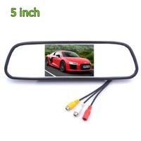 Car Video TFT LCD Monitor 5 Inch HD Rearview Mirror Display DC12V 24V Reversing Screen For Auto Parking Backup Image