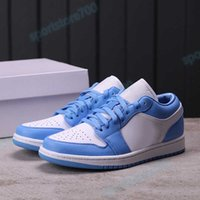 UNC 1 1s low basketball shoes travis scotts light smoke grey hyper royal multi color laser blue banned gold toe men women trainers US