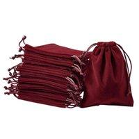 20pcs 벨벳 Drawstrings 파우치 어머니의 날 보석 선물 디스플레이 포장 가방 16x12cm