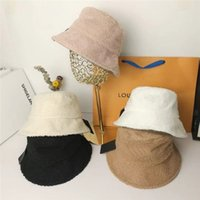 Winter Warm Comfortable Bucket Hat Cap Fashion Stingy Brim Hats Breathable Casual Fitted Hats Beanie Casquette 5 Color Highly Quality