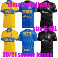 Büyük Meksika Kulübü Tigres Uanl 7 Yıldız 2021 Autover Futbol Jersey Tigers Sarı Gignac Vargas H. Ayala Sosa Formalar Futbol Gömlek S-4XL